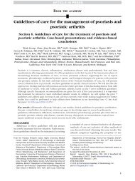 Guidelines of care for the management of psoriasis ... - Huidziekten.nl