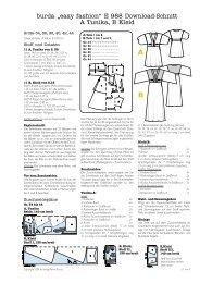 "burda ""easy fashion"" E 988 Download-Schnitt A Tunika, B ... - kaliwan"
