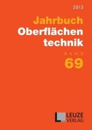 Jahrbuch Oberflächen technik - Fischer Technology, Inc.