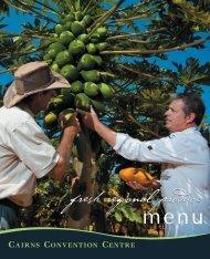 Banquet Menus - Cairns Convention Centre