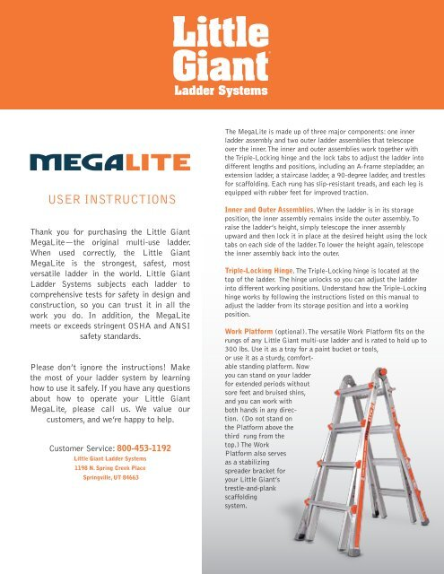 Manual - Little Giant Ladder Systems