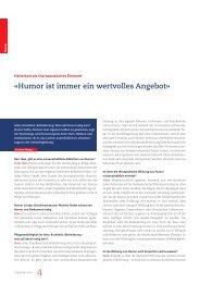 «Humor ist immer ein wertvolles Angebot» - HumorCare Schweiz