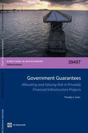 Government Guarantees - Regulation Body of Knowledge