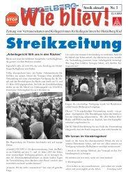 1. Streik Wie bliev! - IG Metall