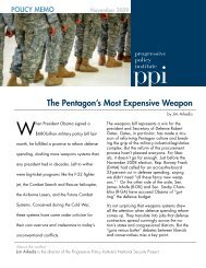 The Pentagon's Most Expensive Weapon - Progressive Policy Institute