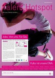 Kultur ist unsere DNA. Jobs. Von uns. Für Sie. - Deutsche Telekom