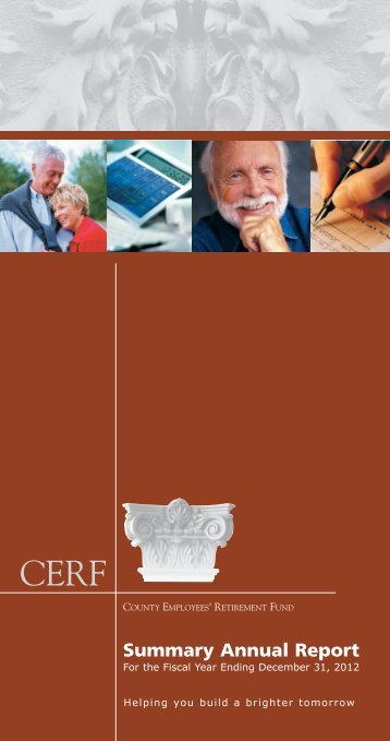 CERF Annual Report - County Employees' Retirement Fund