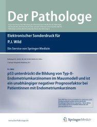 Elektronischer Sonderdruck für p53 unterdrückt die Bildung von Typ-II
