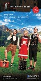 Programmheft Heimhof-Theater Spielzeit 2013 ... - Burbach erleben