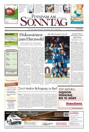 Diskussionen zum Ehrensold - Potsdamer Neueste Nachrichten