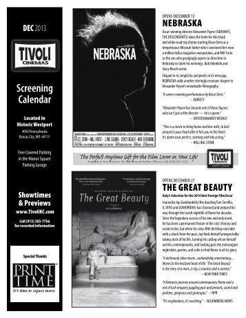 Screening Calendar - Tivoli Cinemas