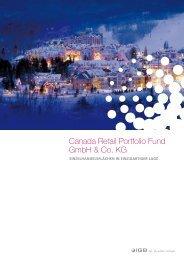 Canada retail Portfolio Fund GmbH & Co. KG - Scope