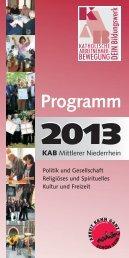 Download des Programms - KAB Mittlerer Niederrhein
