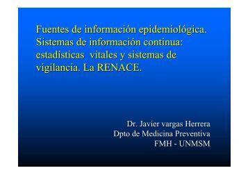Fuentes de información epidemiológica. Sistemas ... - EPIREDPERU