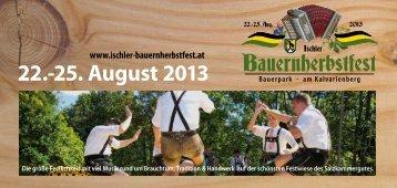Bauernherbst-Folders 2013 - Ischler Bauernherbstfest