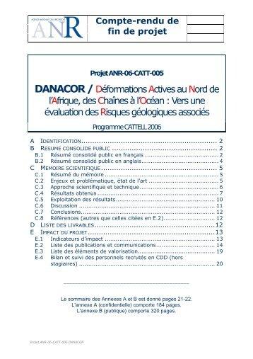 Projet ANR-06-CATT-005 DANACOR - liste des personnes ayant ...
