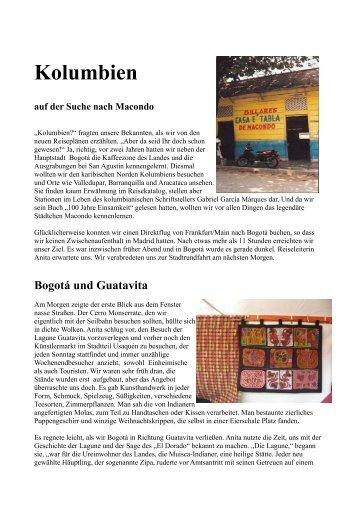 Reisebericht KOLUMBIEN - Lateinamerika-Blog