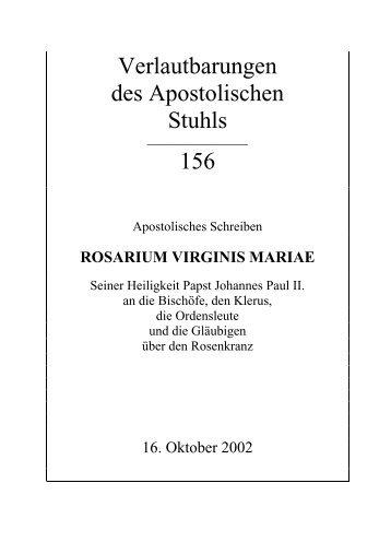 ROSARIUM VIRGINIS MARIAE - Directserver.org