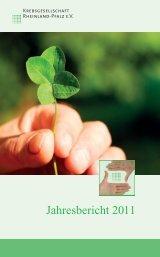 aktuellen Jahresbericht - Krebsgesellschaft Rheinland-Pfalz