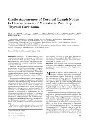 Cystic Appearance of Cervical Lymph Nodes Is Characteristic of ...