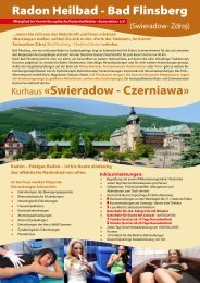 Radon Heilbad - Bad Flinsberg Kurhaus «Swieradow - Czerniawa»