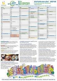 Abfallkalender 2012 Ortsbezirke Diedesfeld und Hambach