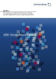 ARD-DeutschlandTREND Juli 2013 - Infratest dimap