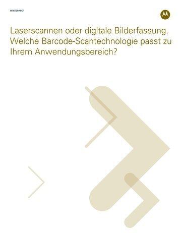 Laserscannen oder digitale Bilderfassung - Motorola Solutions