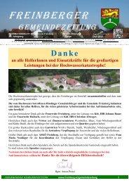 7. Folge Juli 2013 - in Freinberg