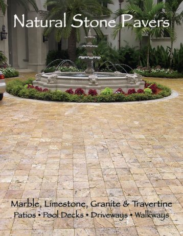 natural stone pavers brochure