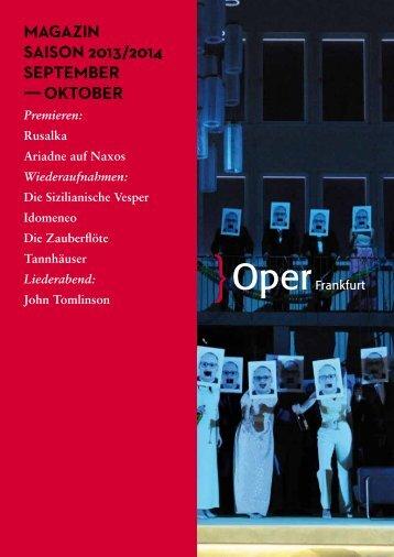 Opernmagazin September / Oktober 2013 - Oper Frankfurt