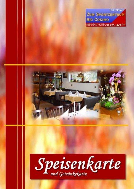 Restaurant-Karte - Restaurant Zum Sportzentrum
