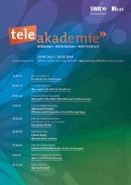 Das Programm 2. Halbjahr 13 als PDF-Download - Tele-Akademie