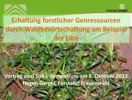 Erhaltung forstlicher Genressourcen durch Waldbewirtschaftung am ...