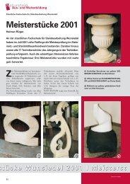Fachzeitschrift NATURSTEIN Ausgabe 10/2001, Artikel