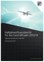 Halbjahresfinanzbericht zum 31. August 2013 - FACC