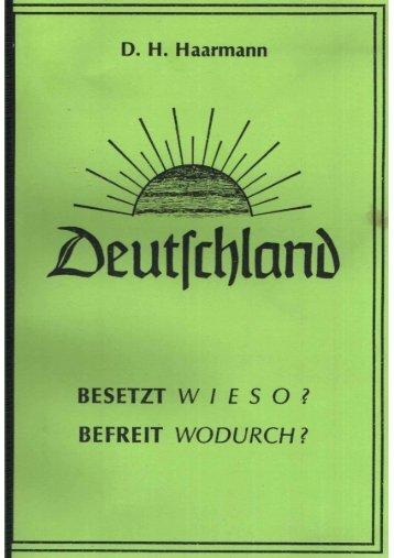 Besetzt Wieso, befreit – wodurch – Haarmann - Der Honigmann sagt...