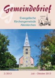 Wochen-Programm 2/2013 - Evangelische Kirchengemeinde ...