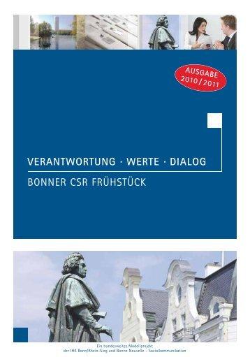 CSR-Broschüre Bonn/Rhein-Sieg 2010/11
