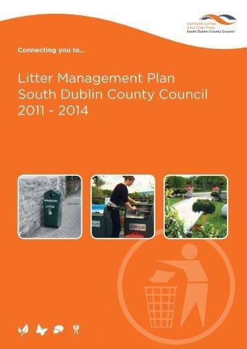 Litter Management Plan South Dublin County Council 2011 - 2014