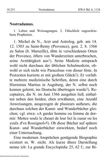 Nostradamus - schauungen.de