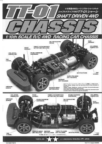 Tamiya TT-01 Chassis Manual - Notices de modèles réduits ...