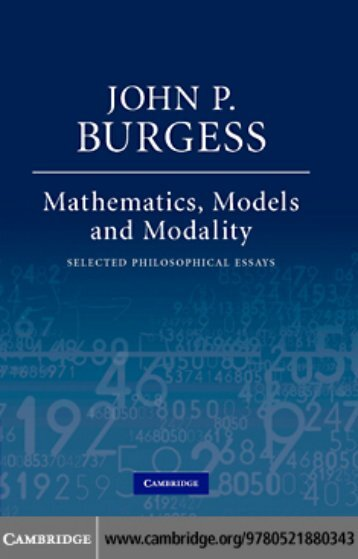 MATHEMATICS, MODELS, AND MODALITY: Selected Philosophical ...