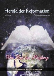 Gebetslesung Dez. 2009 - Gemeinschaft der Siebenten Tags ...