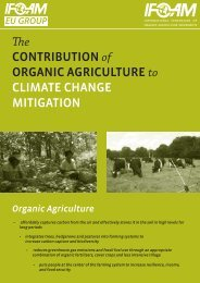 The Contribution of Organic Agriculture to Climate Change Mitigation