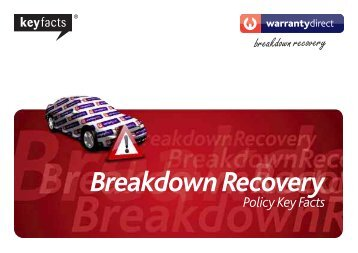 Policy Key Facts Breakdown Recovery - Warranty Direct