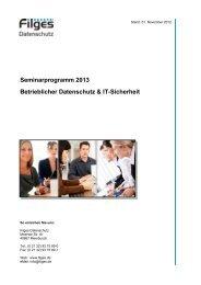 Unser aktuelles Seminarprogramm zum Herunterladen [pdf] - Filges ...