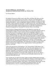 30 Jahre JVHS - Jüdische Volkshochschule Berlin