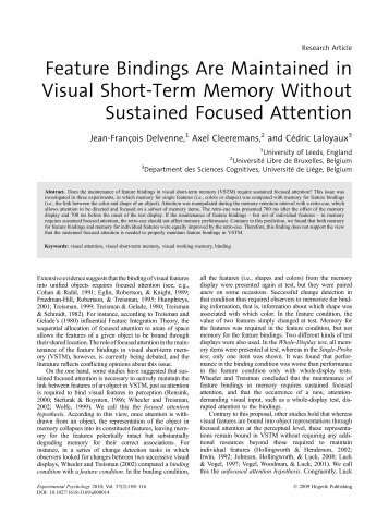 Feature Bindings Are Maintained in Visual Short-Term Memory ...