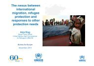 The nexus between international migration, refugee protection and ...